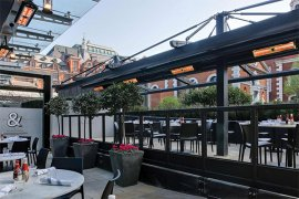 infrared heating systems - roof top patios
