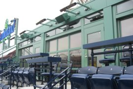 infrared heating systems - stadium seating