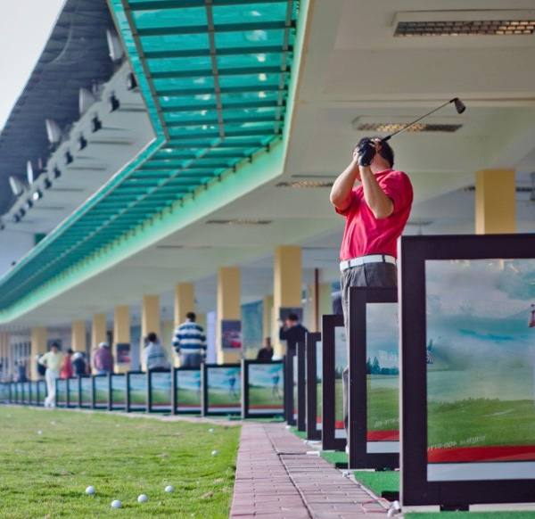 Golf Driving Range heating