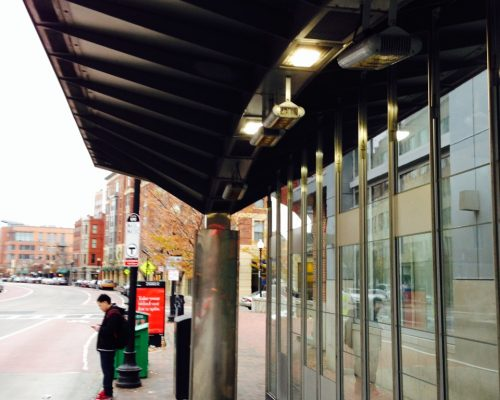 bus shelter heating