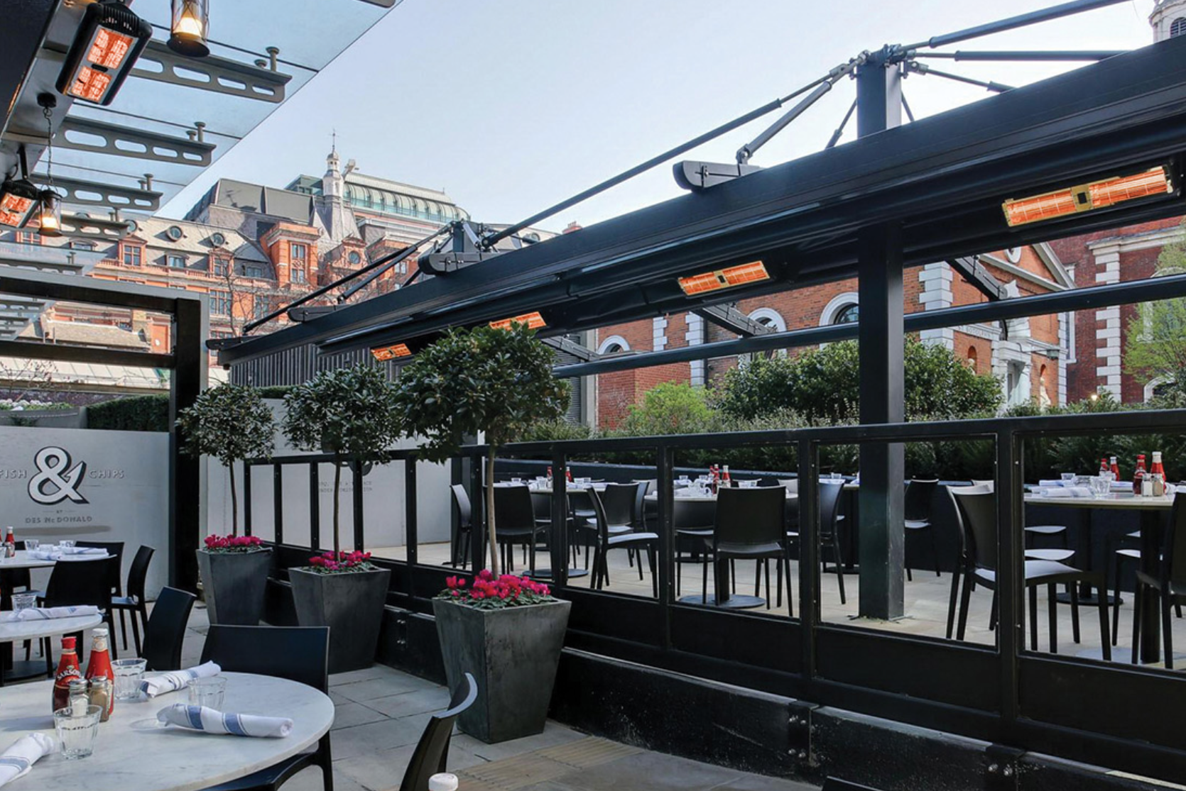 Roof top patio heating will keep your customers warm