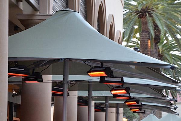 commercial umbrella heating