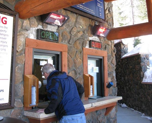 outdoor ticket booth heating